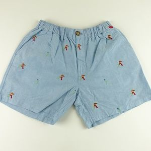Chubbies Men Parrot Embroidery Casual Shorts A6308